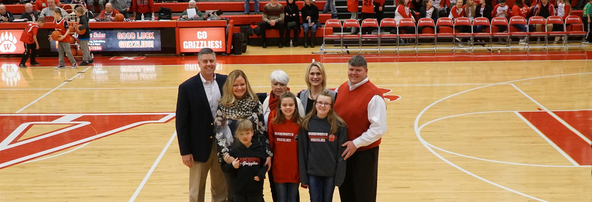 Coach Dave Sladky Court Ceremony, February 10, 2018.